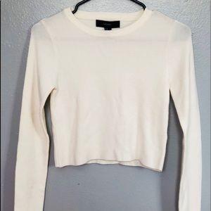 Creme/White Cropped Sweater